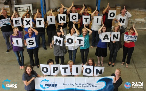 PADI Asia Pacific and Project AWARE staff urge CITES Leaders to Vote YES