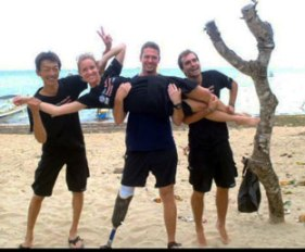 Peter-Bowker-with-OWSI-pals-in-Bali-following-their-Instructor-Exam
