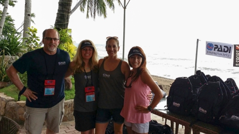 Staff from PADI America's Diving Society  From left to right: Budd Riker, Niccole Sherman, Adrianne Miller, Theresa Kaplan.