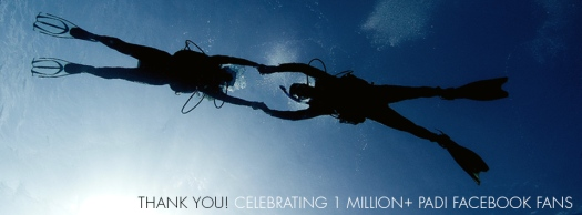 PADI Facebook 1 million cover