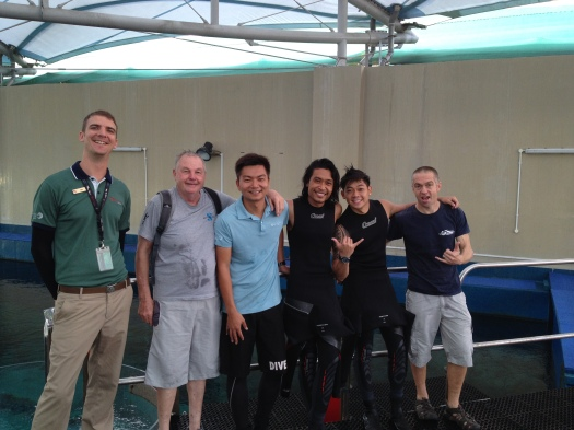Marine Life Park team guiding Richard & Alex