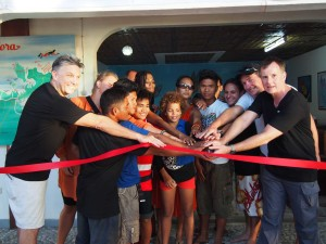 Grand opening of the first Scuba For Change branch and ribbon cutting together with representatives from Stairways Foundation